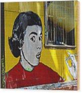 Street Art Valparaiso Chile 7 Wood Print
