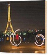 Street Artists In Paris Wood Print