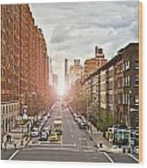 Street As Seen From The High Line Park Wood Print