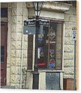 Street Corner In New Orleans Wood Print