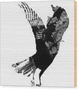 Street Crow Wood Print