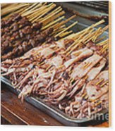 Street Food, China Wood Print