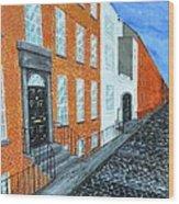 Street In Dublin Wood Print