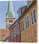 Street In Helsingor Denmark Wood Print