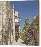Street In Jaffa Tel Aviv Israel Wood Print