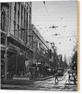 Street In Melbourne  Wood Print