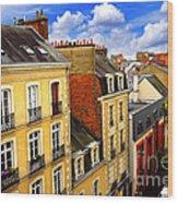 Street In Rennes Wood Print