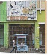Street In Surabaya Indonesia Wood Print