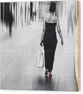 Street Lady Wood Print