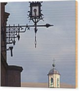 Street Lamp, Assisi Wood Print