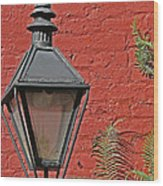 Street Lamp Wood Print by Jeanne  Woods