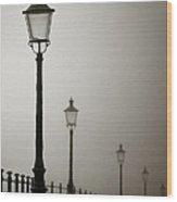 Street Lamps Wood Print