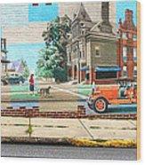 Street Mural Wood Print