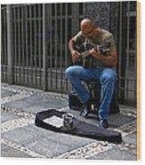 Street Musician - Sao Paulo Wood Print