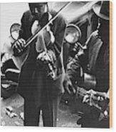 Street Musicians, 1935 Wood Print