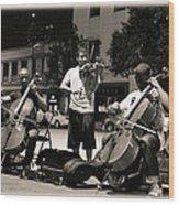 Street Musicians 2 Wood Print