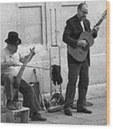 Street Musicians In Avignon Wood Print