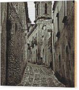 Street Of Erice Wood Print