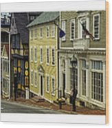 Street Of Many Colors In Providence Ri Wood Print