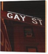 Street Of Pride Wood Print
