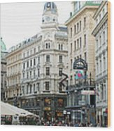 Street Of Vienna Wood Print