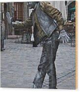 Street Performer In Munich Wood Print