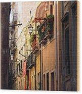 Street Scene In Italy Wood Print