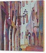 Street Scene Italy Wood Print