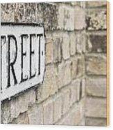 Street Sign Wood Print