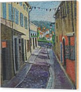 Street View From Provence Wood Print