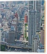 Street View Tokyo Wood Print