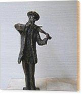 Street Violinist Wood Print