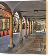 Street With Arches And Columns Wood Print