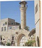 Street With Minaret In Tel Aviv Israel Wood Print