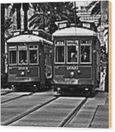 Streetcars New Orleans Wood Print