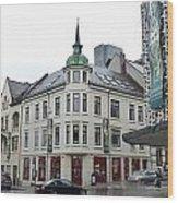 Streets Of Aalesund Wood Print