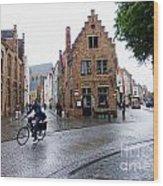 Streets Of Brugges 3 Wood Print