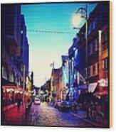 Streets Of Dublin Wood Print