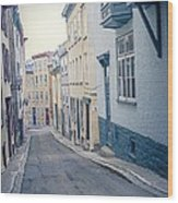 Streets Of Old Quebec City Wood Print