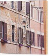 Streets Of Rome Wood Print