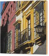 Streets Of Sevilla Wood Print