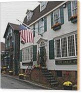 Streetscene Newport  -  Rhode Island Wood Print