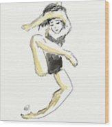 Stretching Dancer Wood Print