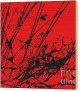 Strike Out Red And Black Abstract Wood Print