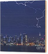 Strikes And Bolts In Nyc Wood Print