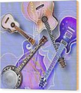 Stringed Instruments Wood Print by Design Pics Eye Traveller