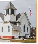 Stringtown Community Church Wood Print