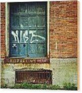 Strip District Doorway Number 1 Wood Print by Amy Cicconi