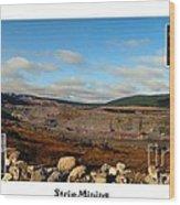 Strip Mining - Environment - Panorama - Labrador Wood Print
