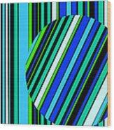 Striped Circle  C2014 Wood Print